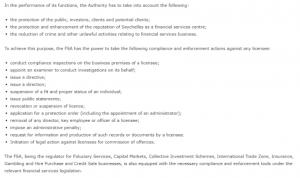 FSA - меры регулятора