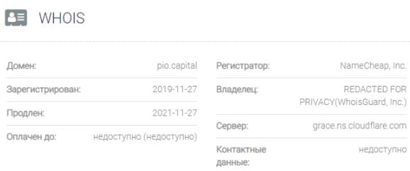 PIO Capital - основные данные