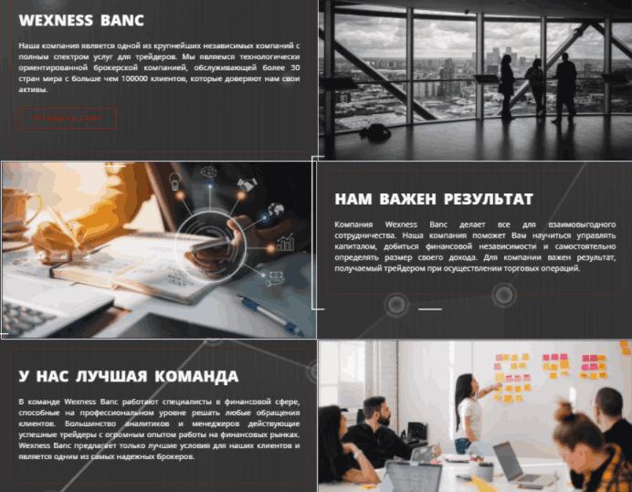 WexnessBanc - о компании
