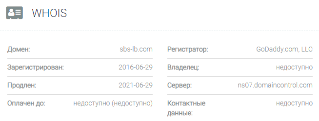 SBS LB - основные данные