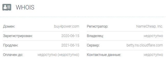 Buy4Power - основные данные