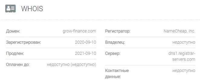 Grow Finance - домен