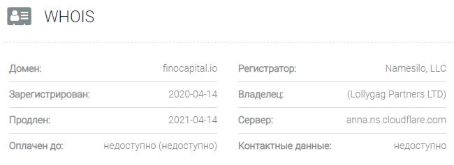 FinoCapital - домен