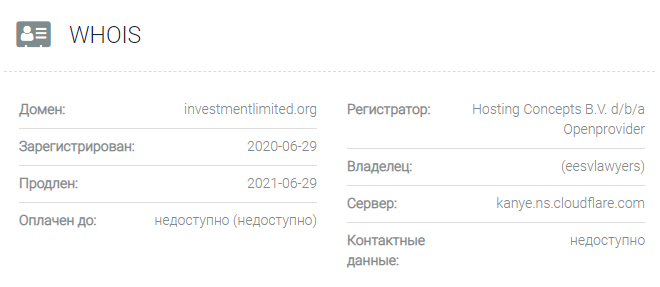 Investmentlimited - домен