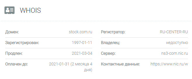 Stock Investments Limited - домен