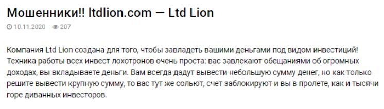 Ltdlion - отзыв