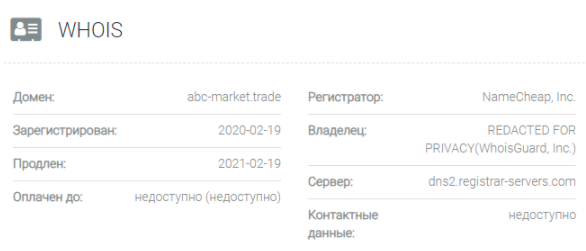 ABC-Market - домен