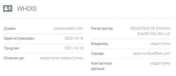 Corex Brokers - домен