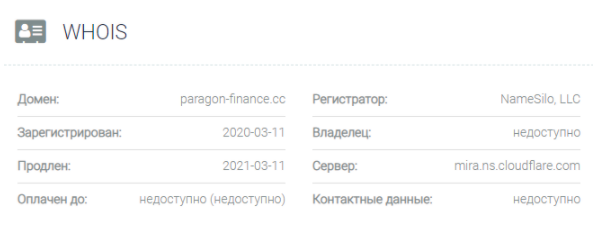Paragon-finance - домен