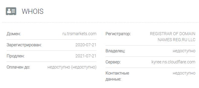 TRS Markets - домен