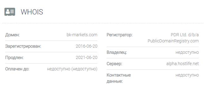 BC Markets - домен