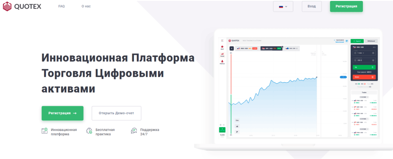 Quotex - сайт компании