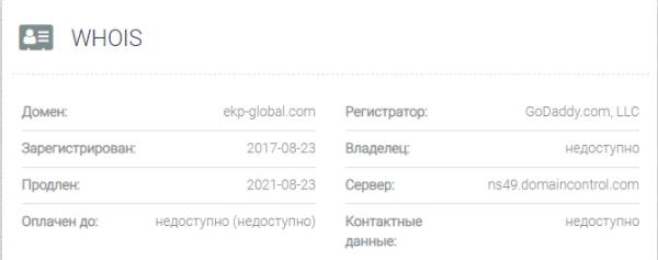 EKP Global - домен