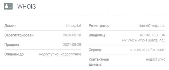 Lot Capital - домен