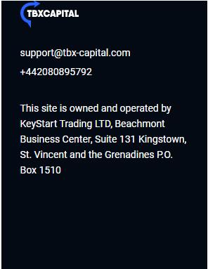 Tbxcapital - юридический адрес и регистрация
