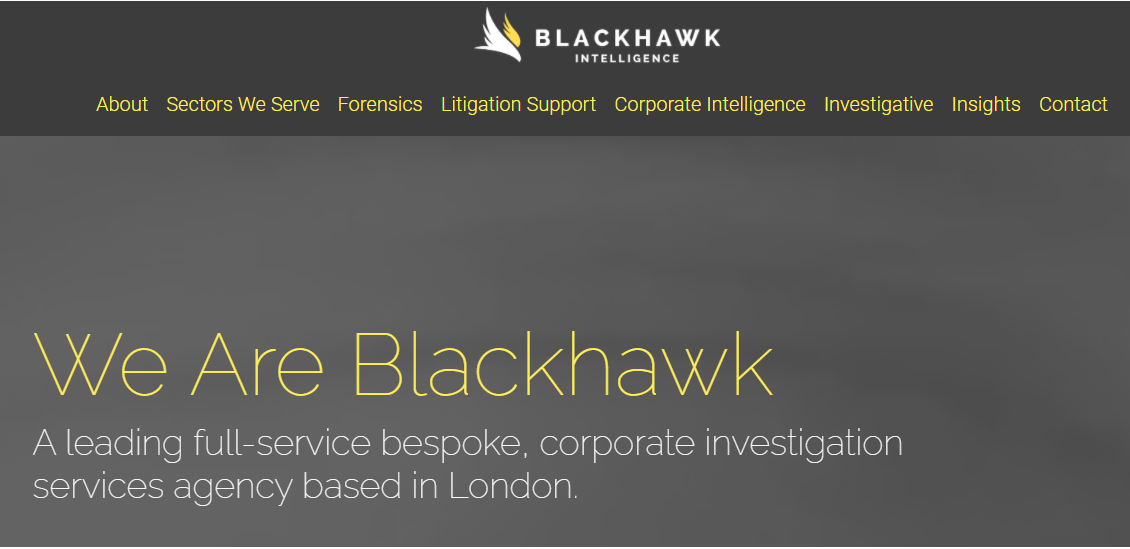 Blackhawk - сайт компании