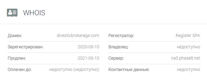 Divestix Brokerage - домен