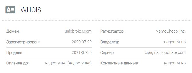 UnixBroker - домен