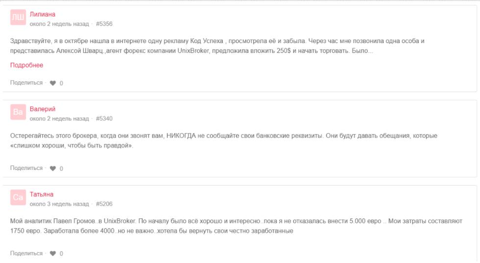 UnixBroker - отзывы