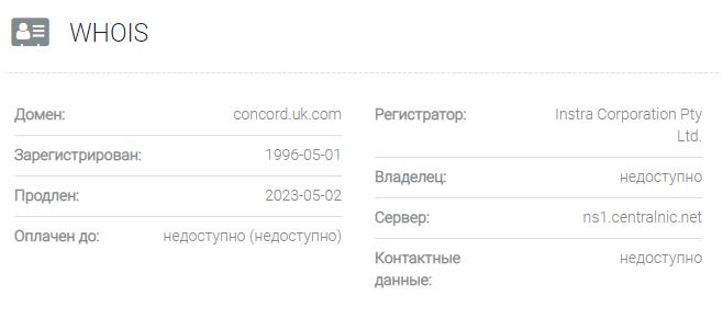 Concord - домен
