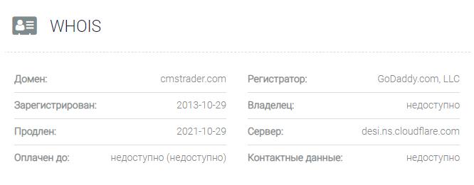 CMS Trader - домен