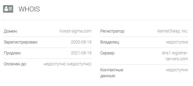 Sigma Invest - домен