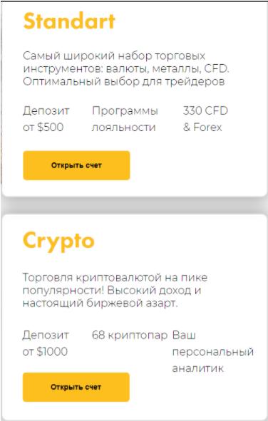 FirstTrade - торговые аккаунты