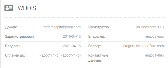 Traders Capital Group - домен