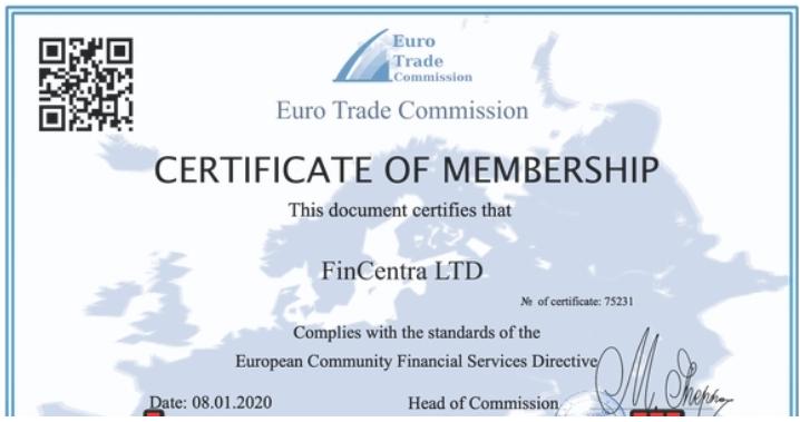 Fincentra - липовая лицензия