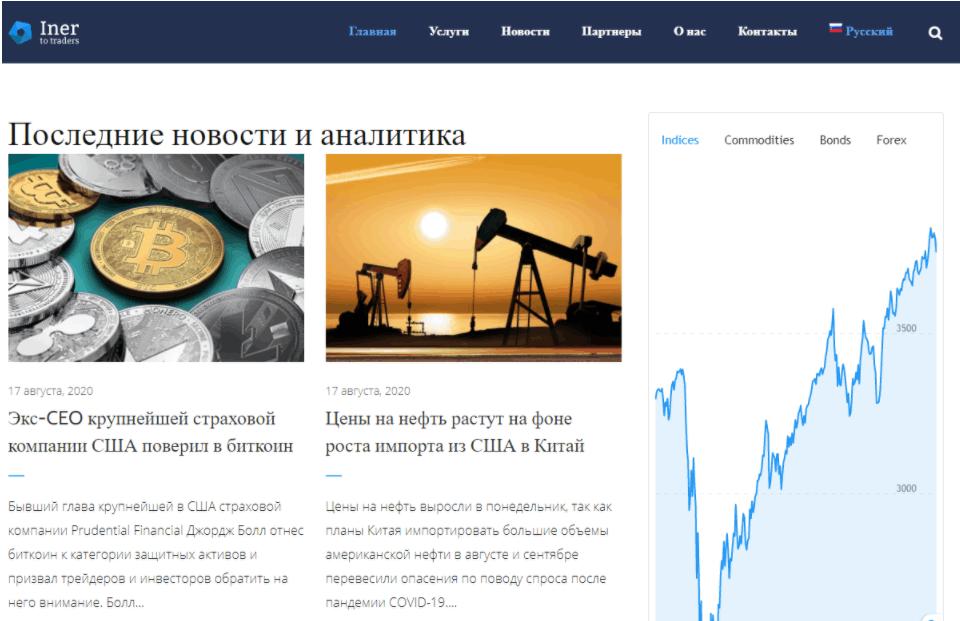 Iner 2 Traders - сайт компании