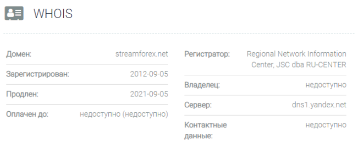 Stream Forex - основная информация