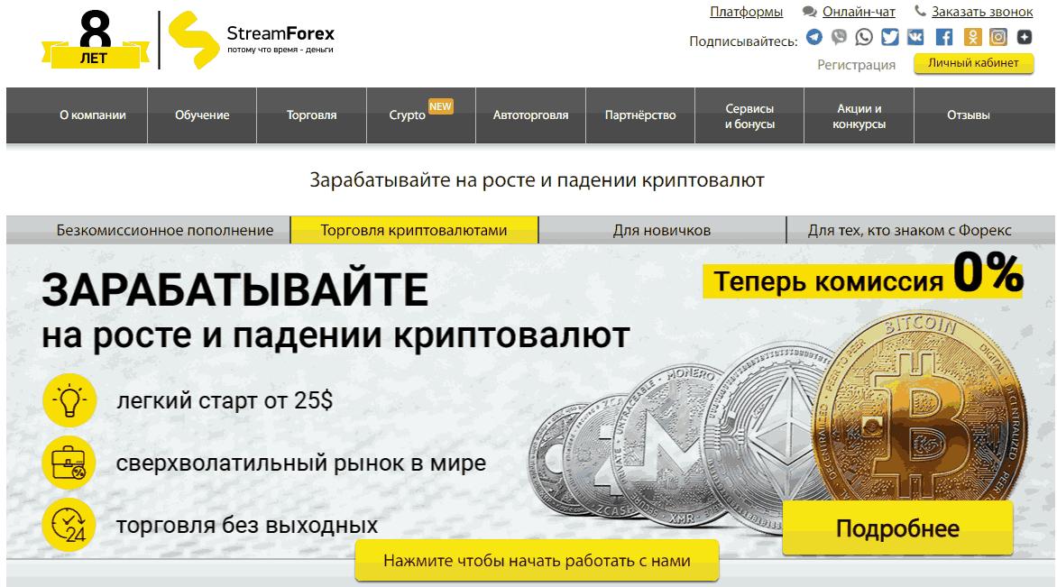 Stream Forex - сайт компании