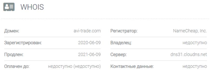 AVI-trade - основная информация