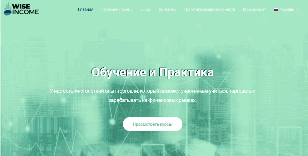 Wise Income - сайт компании