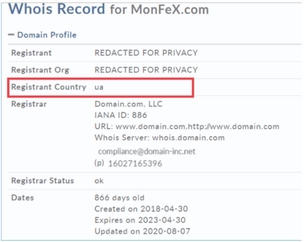 Monfex - регистрация сайта