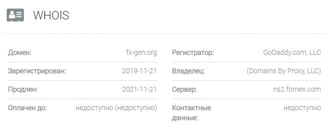 FX Gen - основное о сайте