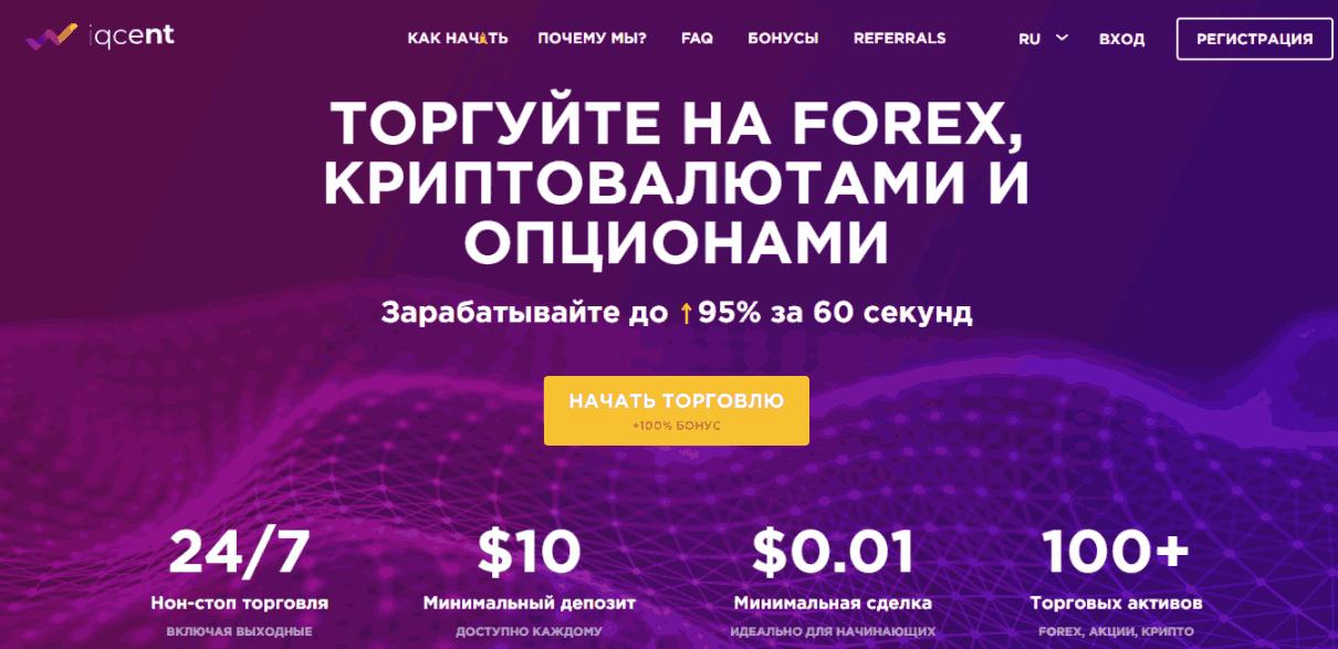 IQcent - сайт компании