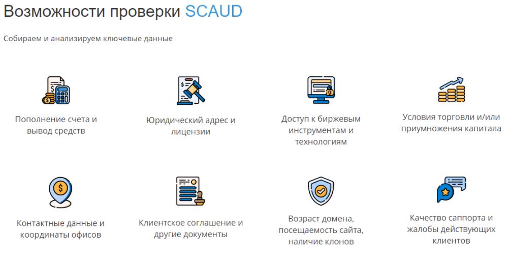 SCAUD - анализ контор