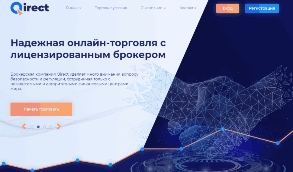 Qirect - сайт компании