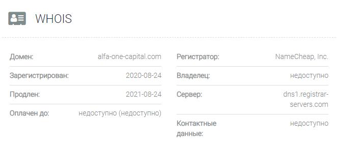 Alfa One Capital - домен