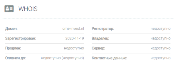 CME Investment Firm - домен