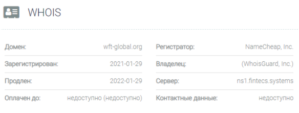WFT Global - домен