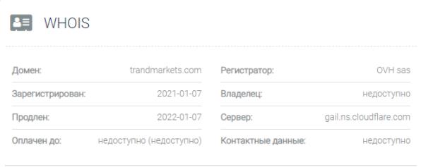 Trand Markets - домен