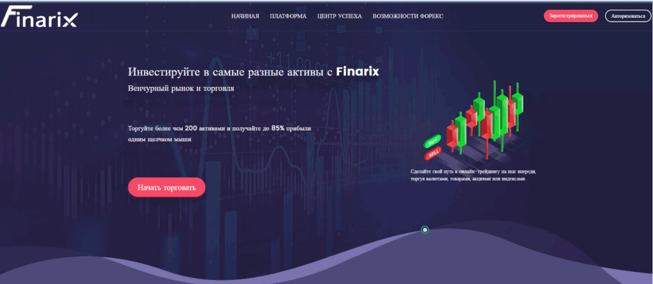 Finarix - сайт компании