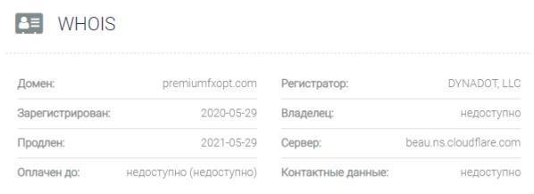 Premium FX Option - домен