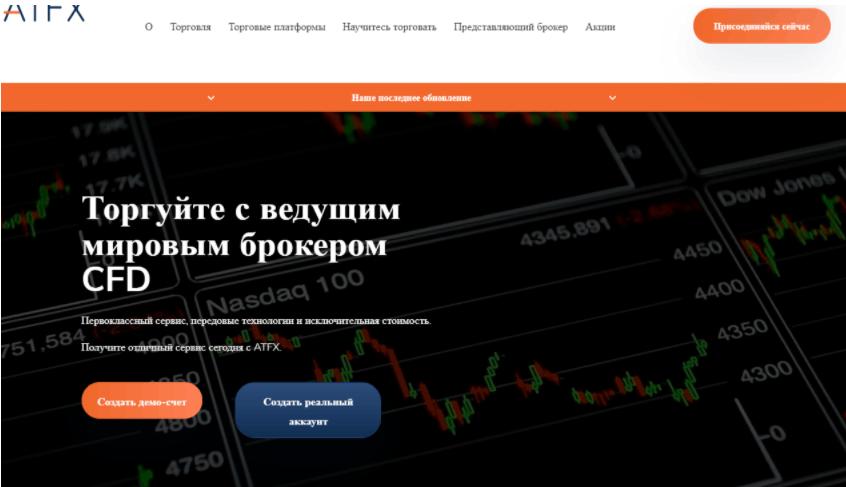 ATFX - сайт компании