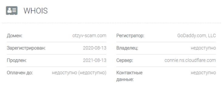 Otzyv Scam - домен