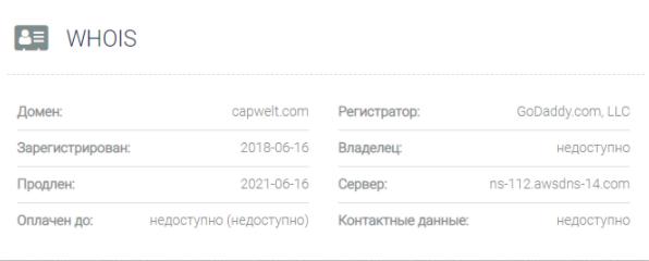 Capwelt - домен