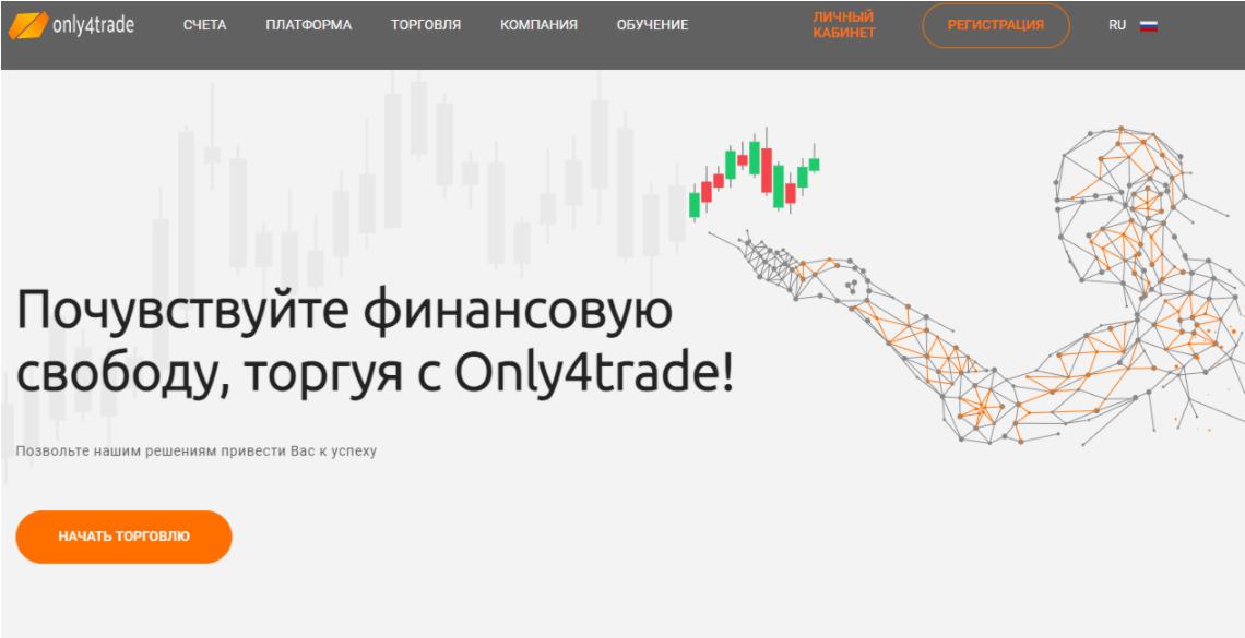 Only4trade - сайт компании