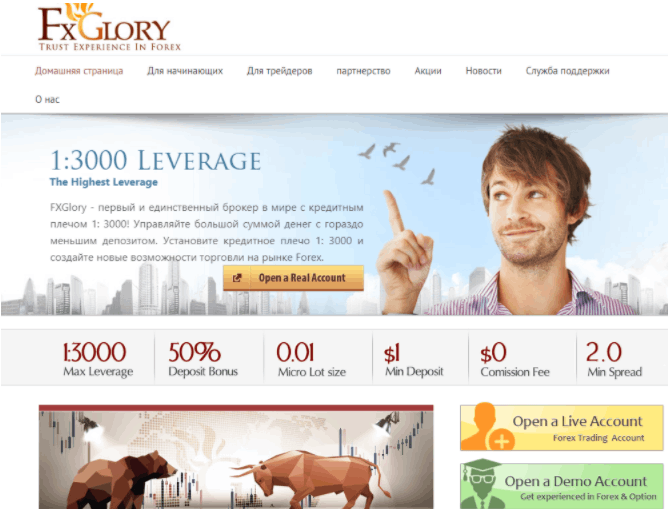 FXGlory - сайт